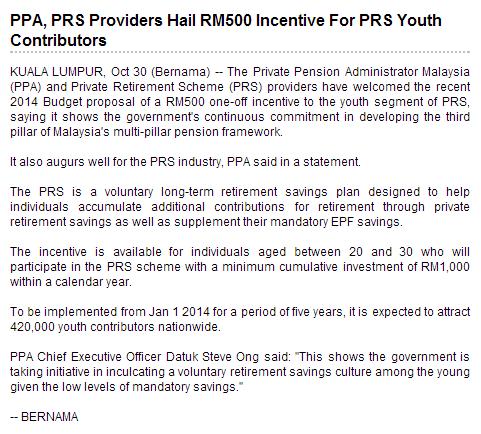 BERNAMA PRS RM 500