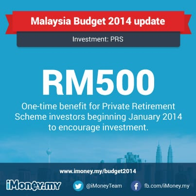 budget2014 RM 500 PRS