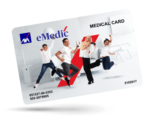 AXA eMedic medical card online