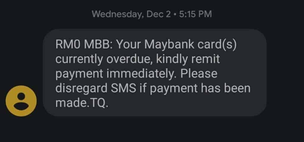ccris overdue payment